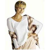 Cuddl Duds' V-Neck Long Sleeve Top