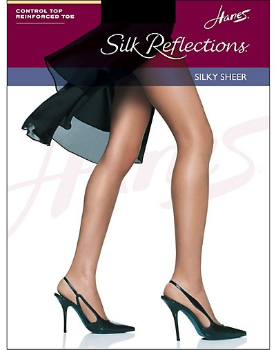 0d4e138d11a Hanes Hosiery Silk Reflection Control Top Reinforced Toe 3 Pair