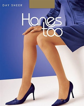 Hanes Hosiery Hanes Too Day Sheer Control Top Reinforced Toe
