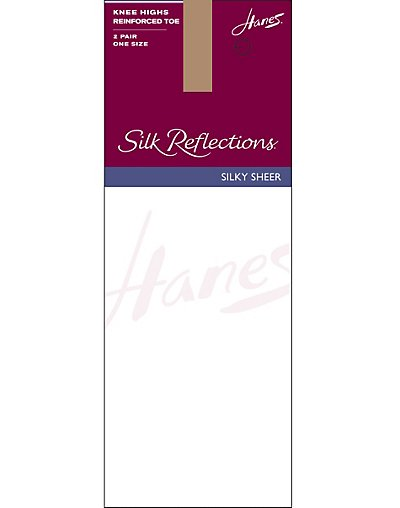 Hanes Hosiery Silk Reflection Knee Hi 2-Pack Reinforced Toe